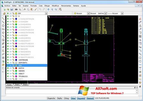 Ekran görüntüsü DraftSight Windows 7