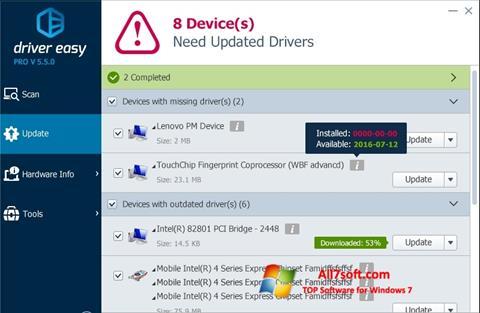 Ekran görüntüsü Driver Easy Windows 7