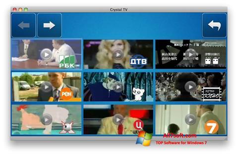 Ekran görüntüsü Crystal TV Windows 7
