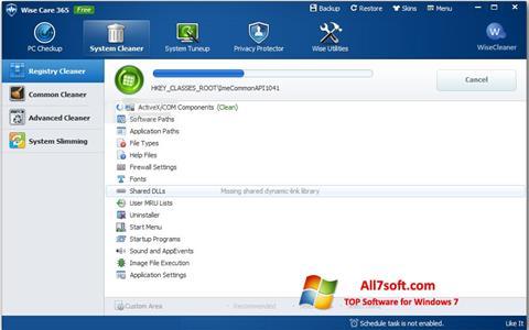 Ekran görüntüsü Wise Care 365 Windows 7