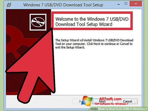 Ekran görüntüsü Windows 7 USB DVD Download Tool Windows 7