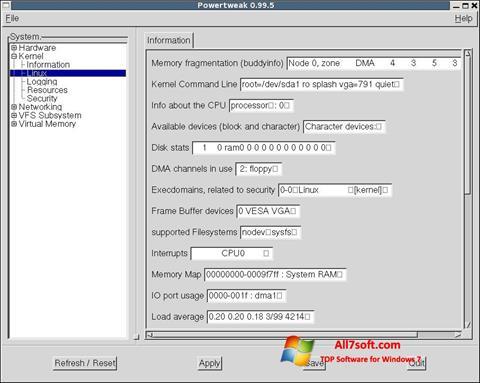 Ekran görüntüsü PowerTweak Windows 7