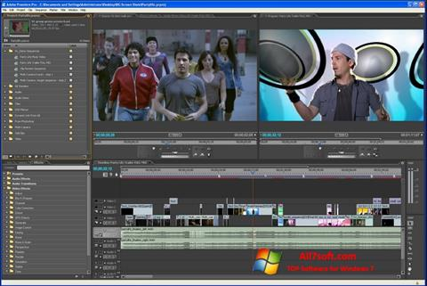 Ekran görüntüsü Adobe Premiere Pro Windows 7
