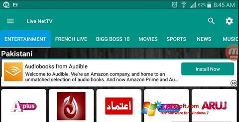 Ekran görüntüsü Net TV Windows 7