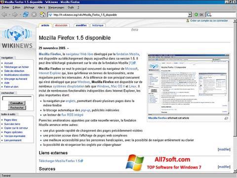 Ekran görüntüsü Mozilla Firefox Windows 7