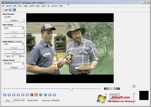 Ekran görüntüsü Avidemux Windows 7