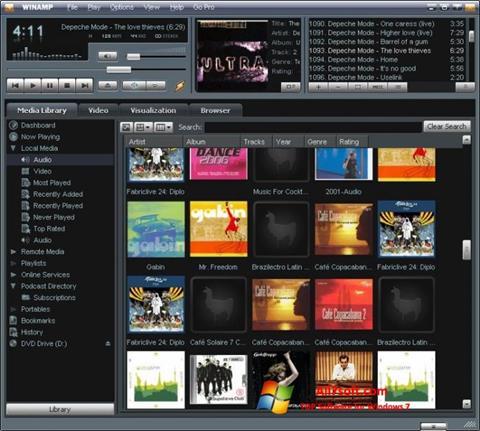 Ekran görüntüsü Winamp Windows 7