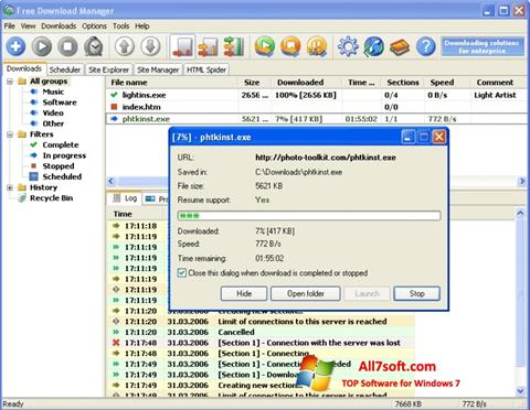 Ekran görüntüsü Download Master Windows 7