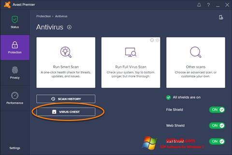 Ekran görüntüsü Avast Windows 7