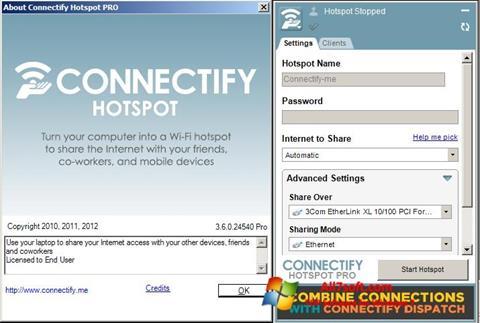 Ekran görüntüsü Connectify Windows 7