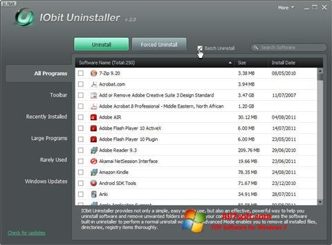 Ekran görüntüsü IObit Uninstaller Windows 7