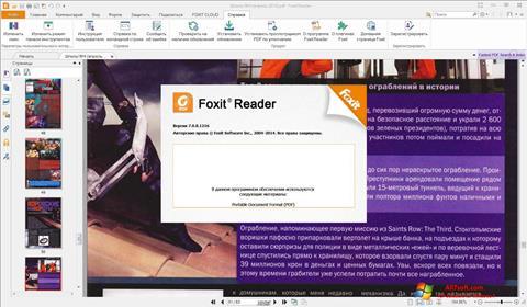 Ekran görüntüsü Foxit Reader Windows 7