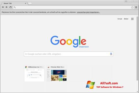 Ekran görüntüsü Google Chrome Windows 7