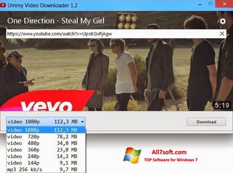 Ekran görüntüsü Ummy Video Downloader Windows 7