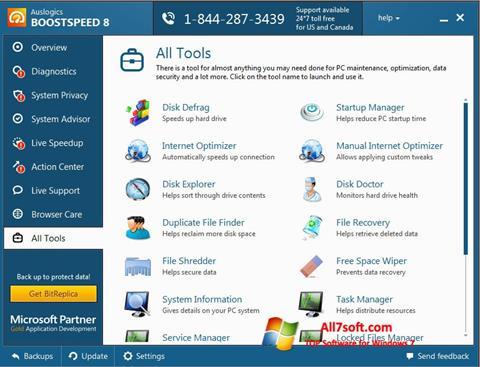 Ekran görüntüsü Auslogics BoostSpeed Windows 7
