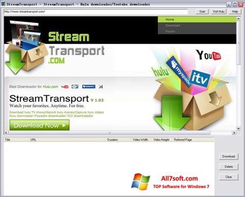 Ekran görüntüsü StreamTransport Windows 7